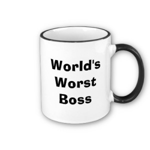 picture of coffe cup - world's worst boss