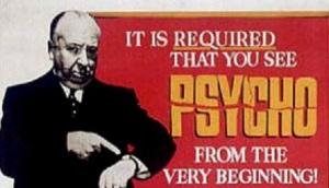 Psycho movie advertisement