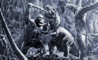 Even after 80 years, the battle between King Kong and a Tyrannosaurus has lost none of its visceral power. (Photo courtesy of Turner Classic Movies)