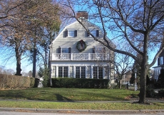 A more recent photo of the house.  Note how the upstairs windows have been redone.