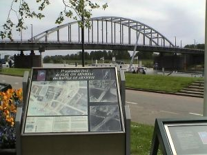 The actual bridge too far in Arnhem is now named the John Frost Bridge in honor of the British commander at the battle.