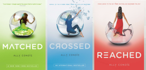 Why yes, many teen series are trilogies.  And have one word titles.