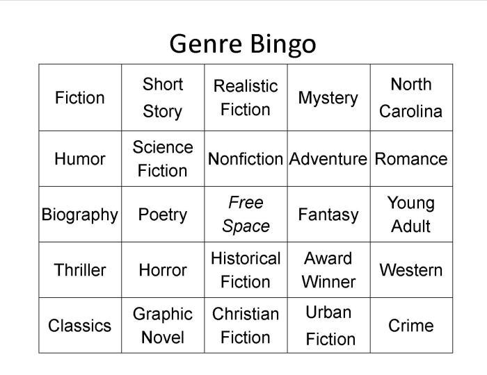 Genre Bingo pic