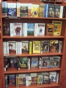 Display of Andrzej Sapowski books