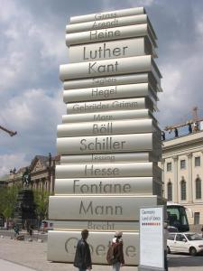 Book sculpture in Berlin.