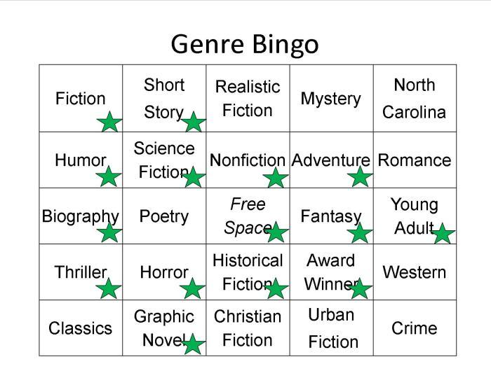 Genre Bingo Complete