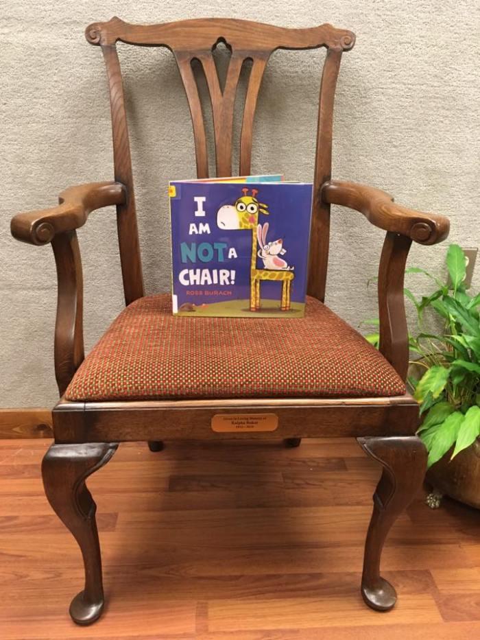 Giraffe is not a chair