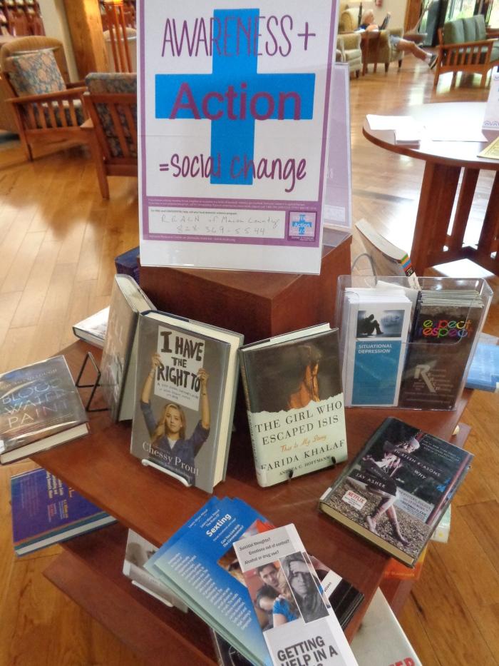 REACH book display at library